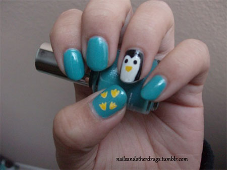 Easy-Cute-Penguin-Nail-Art-Designs-Ideas-2013-2014-9