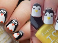 Easy-Cute-Penguin-Nail-Art-Designs-Ideas-2013-2014