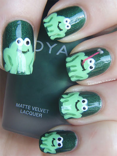 Easy-Farm-Animals-Nail-Art-Designs-Ideas-2013-2014-11