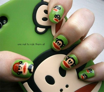 Easy-Farm-Animals-Nail-Art-Designs-Ideas-2013-2014-12