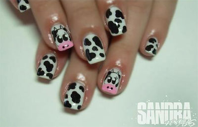 Easy-Farm-Animals-Nail-Art-Designs-Ideas-2013-2014-15
