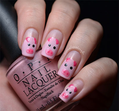 Easy-Farm-Animals-Nail-Art-Designs-Ideas-2013-2014-2