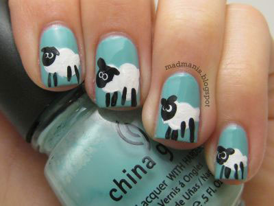 Easy-Farm-Animals-Nail-Art-Designs-Ideas-2013-2014-3