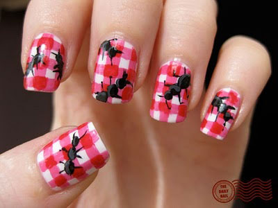 Easy-Farm-Animals-Nail-Art-Designs-Ideas-2013-2014-7