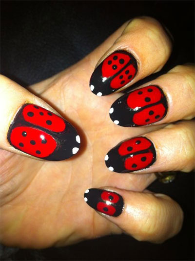 Easy-Farm-Animals-Nail-Art-Designs-Ideas-2013-2014-9