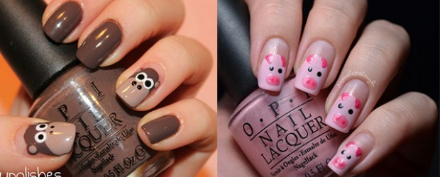Easy-Farm-Animals-Nail-Art-Designs-Ideas-2013-2014