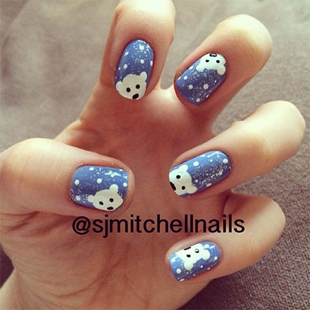 Easy-Polar-Bear-Nail-Art-Designs-Ideas-2013-2014-For-Beginners-Learners-1