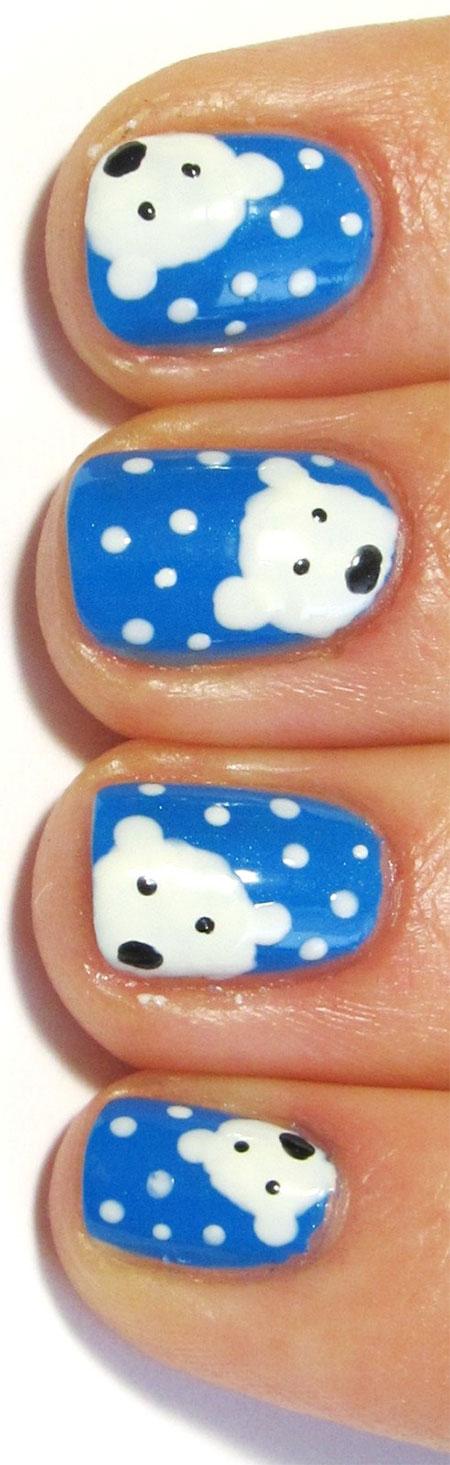 Easy-Polar-Bear-Nail-Art-Designs-Ideas-2013-2014-For-Beginners-Learners-10