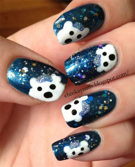 Easy-Polar-Bear-Nail-Art-Designs-Ideas-2013-2014-For-Beginners-Learners-2