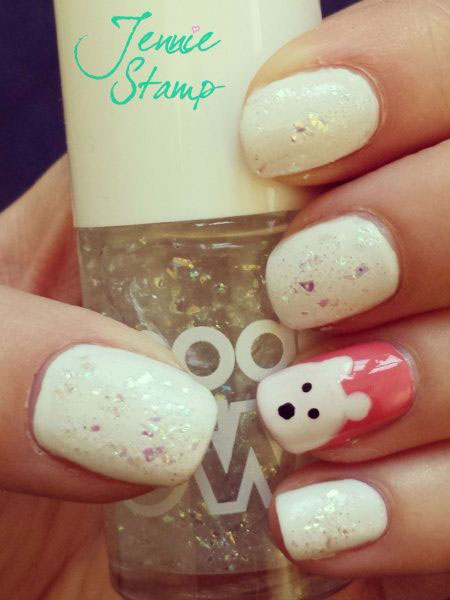 Easy-Polar-Bear-Nail-Art-Designs-Ideas-2013-2014-For-Beginners-Learners-3