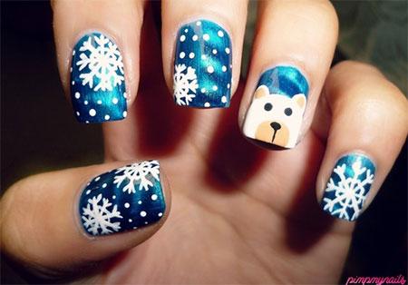 Easy-Polar-Bear-Nail-Art-Designs-Ideas-2013-2014-For-Beginners-Learners-5