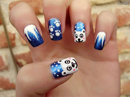 Easy-Polar-Bear-Nail-Art-Designs-Ideas-2013-2014-For-Beginners-Learners-6