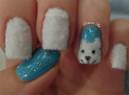 Easy-Polar-Bear-Nail-Art-Designs-Ideas-2013-2014-For-Beginners-Learners-7