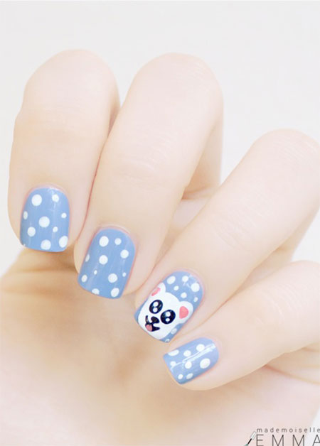Easy-Polar-Bear-Nail-Art-Designs-Ideas-2013-2014-For-Beginners-Learners-8