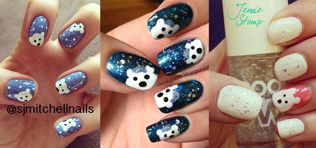 Easy-Polar-Bear-Nail-Art-Designs-Ideas-2013-2014-For-Beginners-Learners