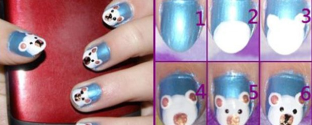 Easy-Polar-Bear-Nail-Art-Tutorial-2013-2014-For-Beginners-Learners