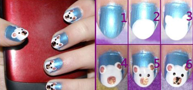 Easy-Polar-Bear-Nail-Art-Tutorial-2013-2014-For-Beginners-Learners
