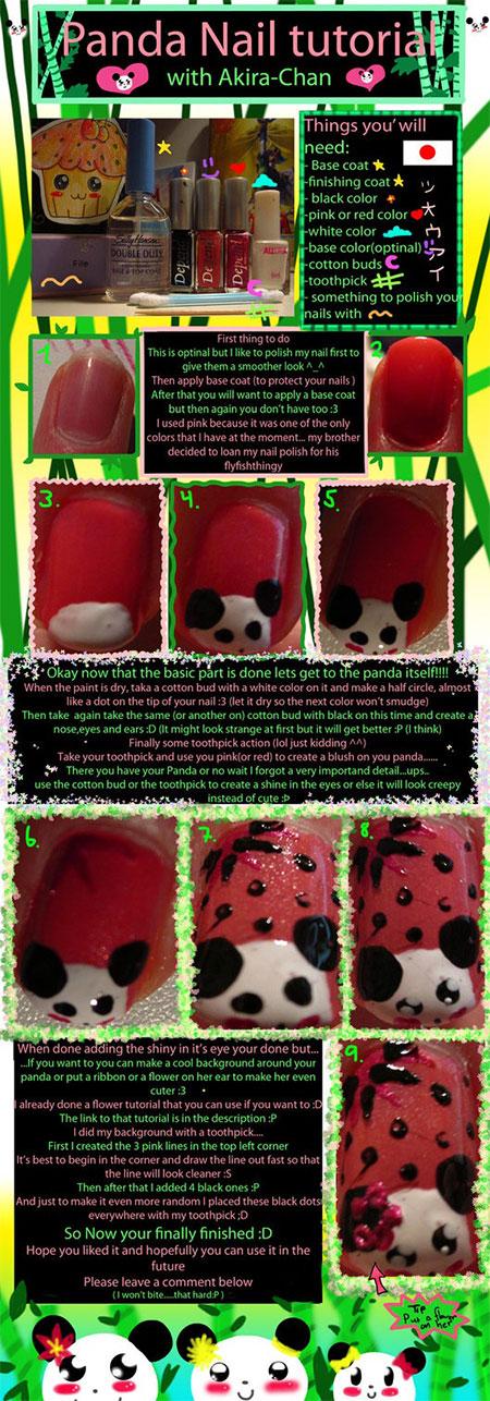 Easy-Simple-Panda-Nail-Art-Tutorial-2013-2014-For-Beginners-Learners-1