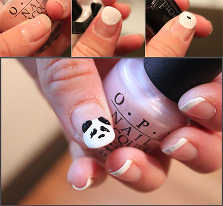 Easy-Simple-Panda-Nail-Art-Tutorial-2013-2014-For-Beginners-Learners-2