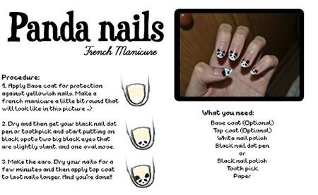 Easy-Simple-Panda-Nail-Art-Tutorial-2013-2014-For-Beginners-Learners-4