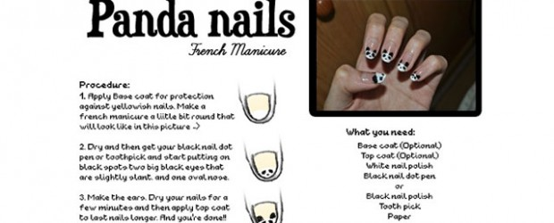 Easy-Simple-Panda-Nail-Art-Tutorial-2013-2014-For-Beginners-Learners