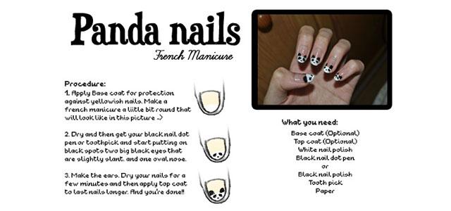 Easy-Simple-Panda-Nail-Art-Tutorial-2013-2014-For-Beginners-Learners