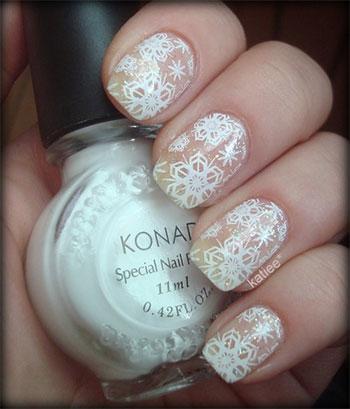 Easy-Simple-Snowflake-Nail-Art-Designs-Ideas-2013-2014-1