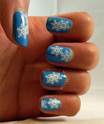 Easy-Simple-Snowflake-Nail-Art-Designs-Ideas-2013-2014-13