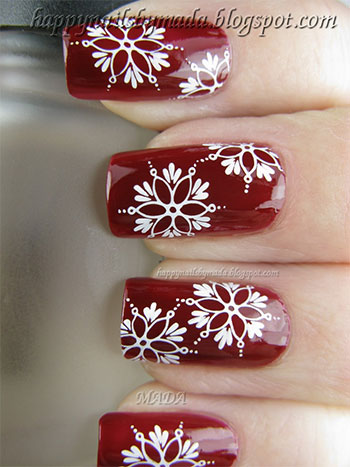 Easy Amp Simple Snowflake Nail Art Designs Amp Ideas 2013