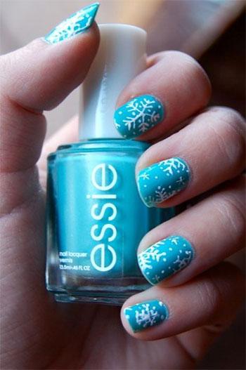 Easy-Simple-Snowflake-Nail-Art-Designs-Ideas-2013-2014-6