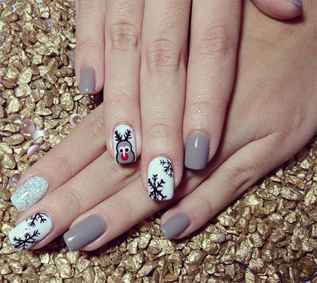 Nail Art 2013 2014 For Beginners Learners 1 Easy & Simple Winter Nail