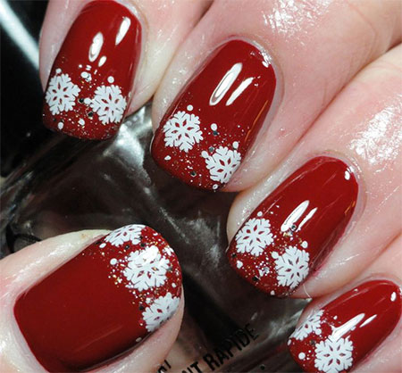 easy  simple winter nail art 2013/ 2014 for beginners