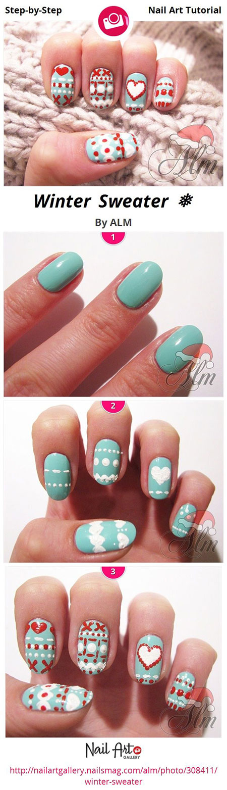 Easy-Winter-Nail-Art-Tutorials-2013-2014-For-Beginners-Learners-4