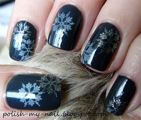 Elegant-Snowflake-Nail-Art-Designs-Ideas-2013-2014-3