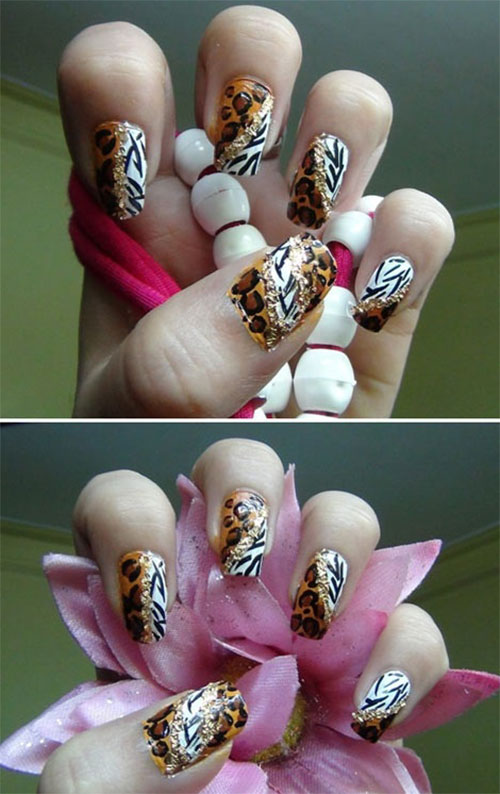 Simple-Easy-Zoo-Farm-Animals-Nail-Art-Tutorial-2013-2014-For-Beginners-3
