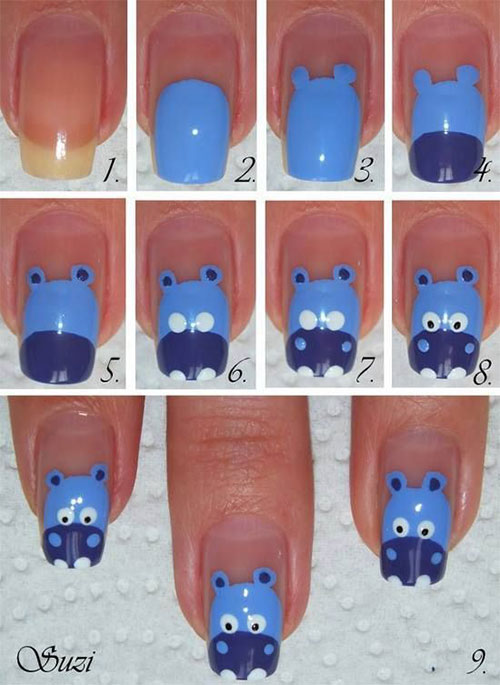 Simple-Easy-Zoo-Farm-Animals-Nail-Art-Tutorial-2013-2014-For-Beginners-4