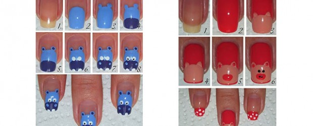 Simple-Easy-Zoo-Farm-Animals-Nail-Art-Tutorial-2013-2014-For-Beginners