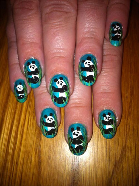 Art Designs: Simple Panda Nail Art Designs & Ideas 2013/ 2014