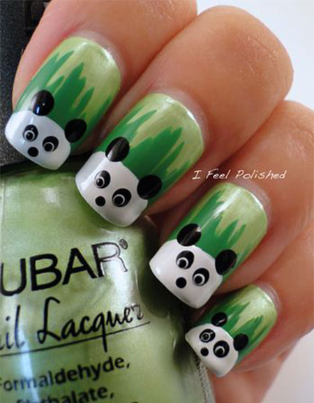 Simple panda nail art designs ideas 2013 2014 fabulous nail easy panda nail art prinsesfo Image collections