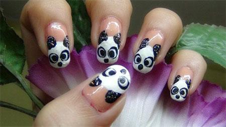 Simple-Panda-Nail-Art-Designs-Ideas-2013-2014-11
