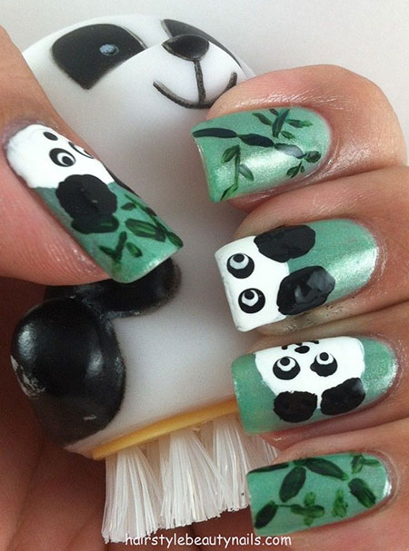 Simple-Panda-Nail-Art-Designs-Ideas-2013-2014-12