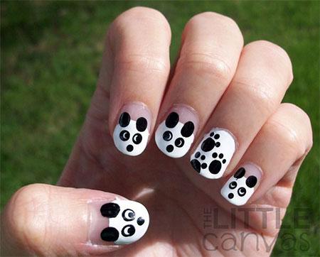 Simple-Panda-Nail-Art-Designs-Ideas-2013-2014-14