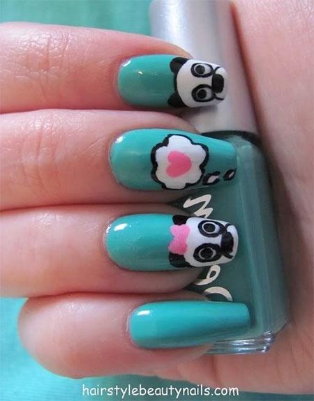 Simple-Panda-Nail-Art-Designs-Ideas-2013-2014-15