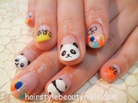 Simple-Panda-Nail-Art-Designs-Ideas-2013-2014-2