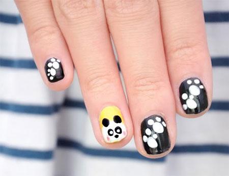 Simple-Panda-Nail-Art-Designs-Ideas-2013-2014-3
