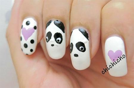 Simple-Panda-Nail-Art-Designs-Ideas-2013-2014-4