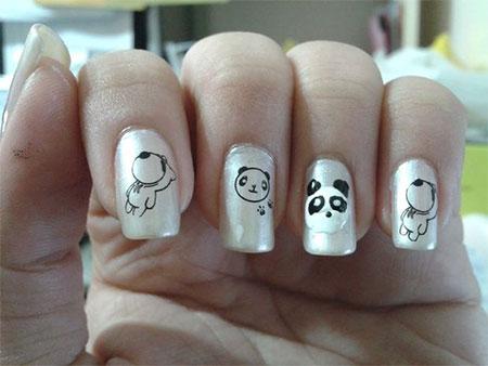 Simple-Panda-Nail-Art-Designs-Ideas-2013-2014-5