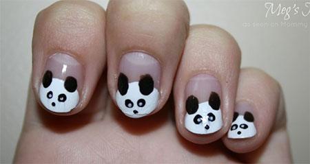 Simple-Panda-Nail-Art-Designs-Ideas-2013-2014-6
