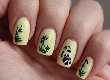 Simple-Panda-Nail-Art-Designs-Ideas-2013-2014-7