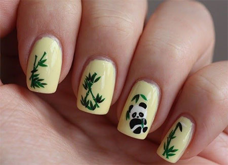 Simple-Panda-Nail-Art-Designs-Ideas-2013-2014-7